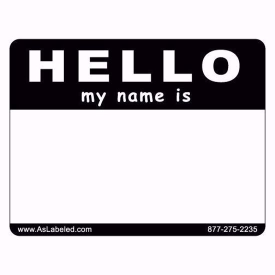 picture of a name badge